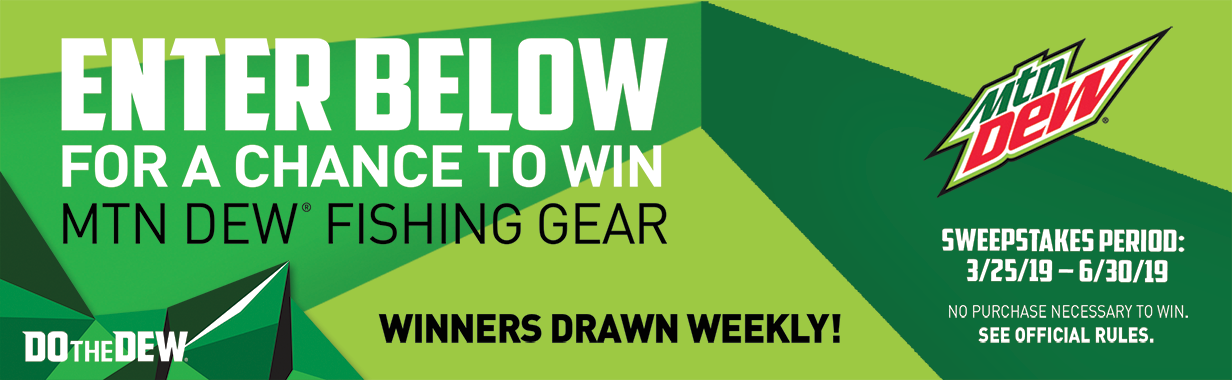 DewFishing 2019 Sweepstakes Banner